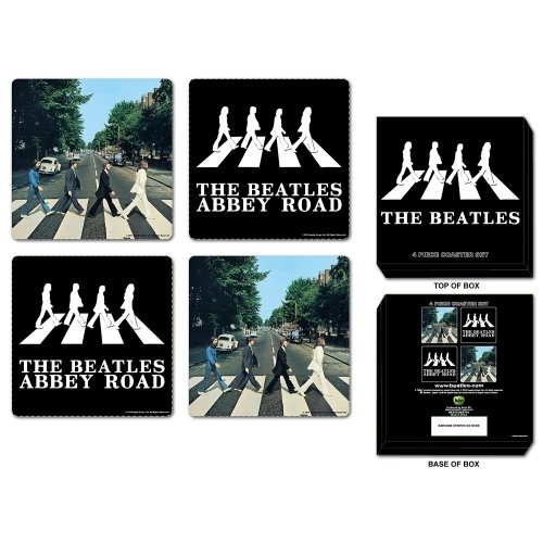 The Beatles Abbey Road Coaster Set (4 Coasters)