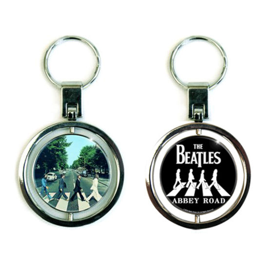 View Item The Beatles Abbey Road Premium Spinning Metal Keyring