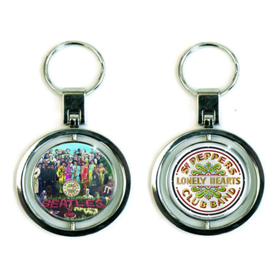 The Beatles Sgt Pepper Premium Spinning Metal Keyring Thumbnail 1