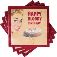 20 Happy Bloody Birthday Large Napkins