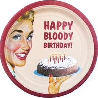 8 Happy Bloody Birthday Paper Plates