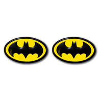 Yellow & Black Batman Logo Cufflinks Thumbnail 1