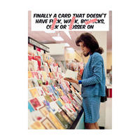 Finally A Card That Doesn't Have F*ck, W*nk, B*llocks, C*ck, Or T*sser On Greeting Card