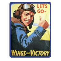 View Item Let's Go (Wings For Victory) Fridge Magnet