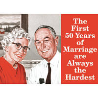 The First 50 Years Fridge Magnet