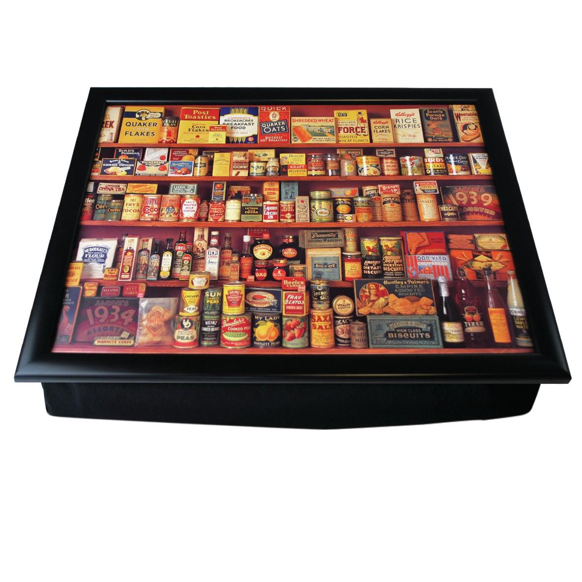new larder lap tray bean bag dinner laptop vintage opie war