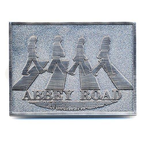 NEW BEATLES ABBEY ROAD METAL BELT BUCKLE LIVERPOOL MERSEY LENNON MCCARTNEY RINGO