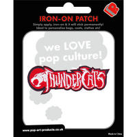 Thundercats Text Logo Embroidered Iron-On Patch