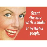 Start the day with a smile Fridge Magnet