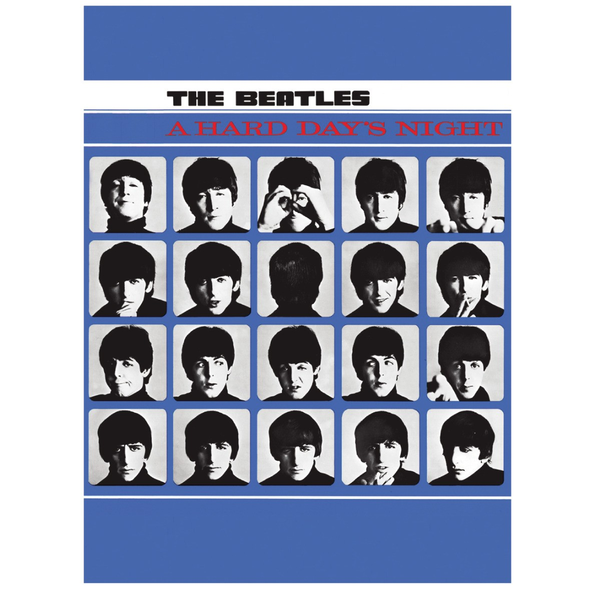 NEW THE BEATLES HARD DAYS NIGHT FRIDGE MAGNET POPBEAT LENNON LP UK OFFICIAL GIFT