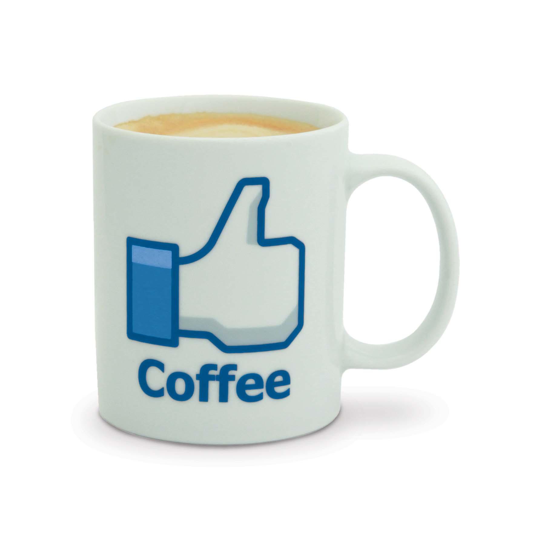 New Facebook Inspired Like Coffee Mug Social Media Thumbs