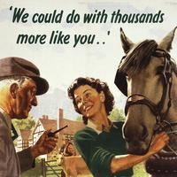 """Thousands More Like You"" Wartime Single Coaster"