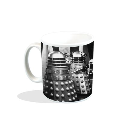 NEW DOCTOR WHO DALEKS CONGREGATE BOXED MUG TARDIS CYBERMEN K9 CERAMIC CUP DR TV
