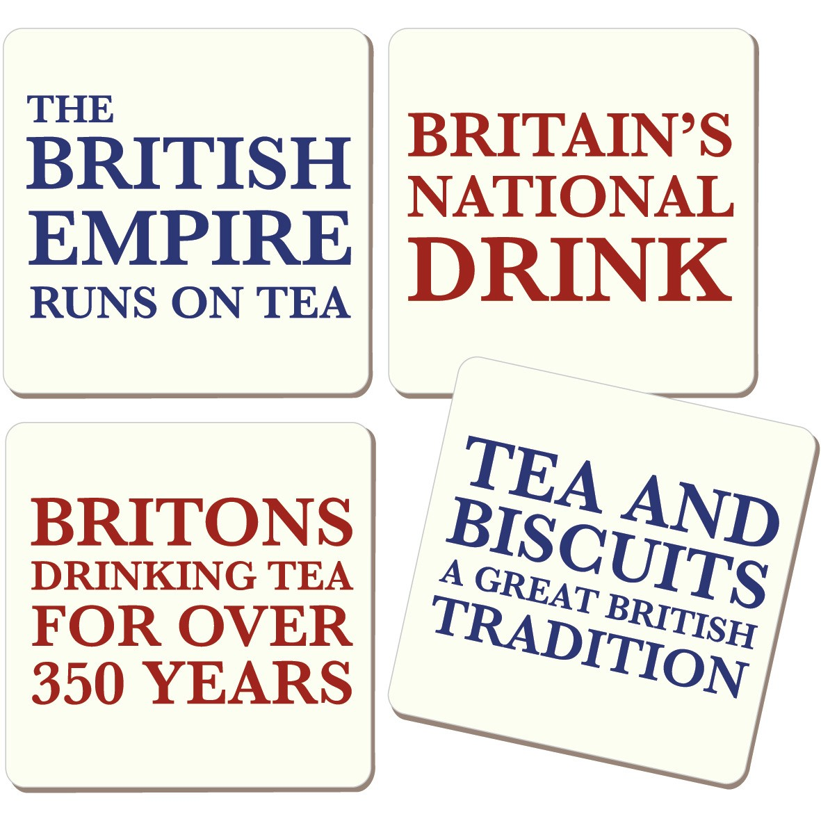 Britian's National Drink Coaster Set (4 Coasters)
