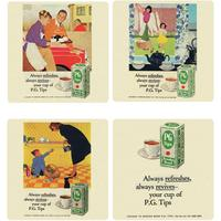 View Item Vintage PG Tips Adverts Coaster Set (4 Coasters)