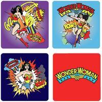 "View Item Wonder Woman ""Pow"" Coaster Set (4 Coasters)"