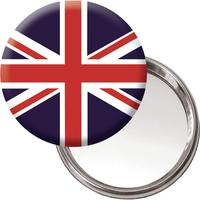 Union Jack Handbag/Button Mirror