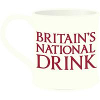 Britain's National Drink Fluted Porcelain Mug