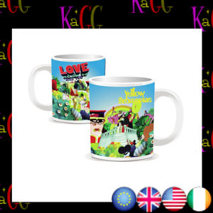 NEW THE BEATLES ALL YOU NEED IS LOVE YELLOW SUBMARINE MINI ESPRESSO MUG BOXED CUP