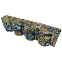 View Item 4 Pack - Superman Comic Strip Mini Espresso Mugs