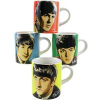 View Item 4 Pack - The Bealtes Four Colours Mini Espresso Mugs