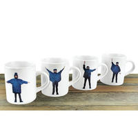 View Item 4 Pack - The Beatles Help! Semaphore Mini Espresso Mugs