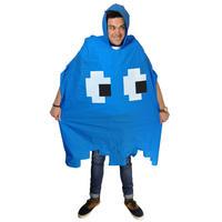 Blue Space Invader Waterproof Poncho