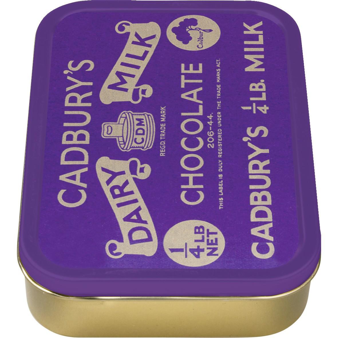 NEW 2oz CADBURYS DAIRY MILK TOBACCO COLLECTORS TIN VINTAGE CIGARETTE SMOKING AD