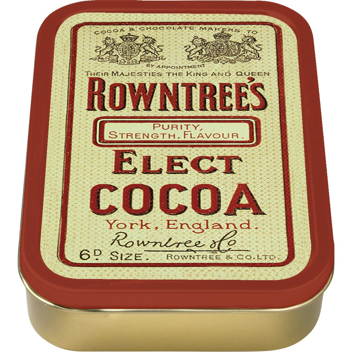 NEW 2oz ROWNTREES COCOA TOBACCO COLLECTORS TIN ROLLING VINTAGE CIGARETTE SMOKING