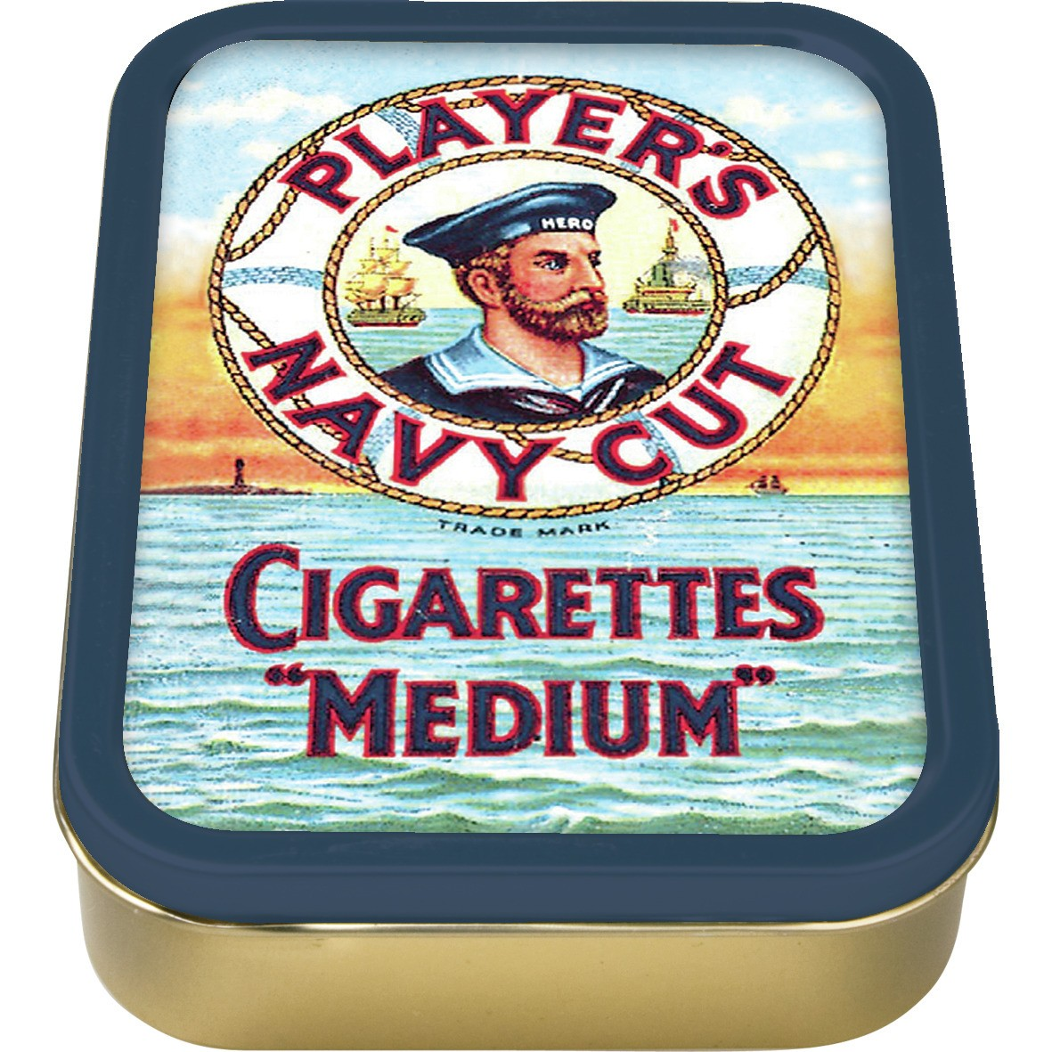 NEW 2oz PLAYERS CIGARETTES TOBACCO COLLECTORS TIN PAPERS VINTAGE ROLLING SMOKING
