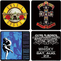 View Item Guns 'N' Roses Album Covers Coaster Set (4 Coasters)