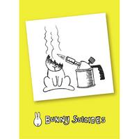 Bunny Suicides Death By Torch Fridge Magnet