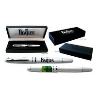 The Beatles Drop T & Apple Logo Pen Gift Set (White)