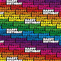 Happy Birthday Gift Wrap x 3 Sheets
