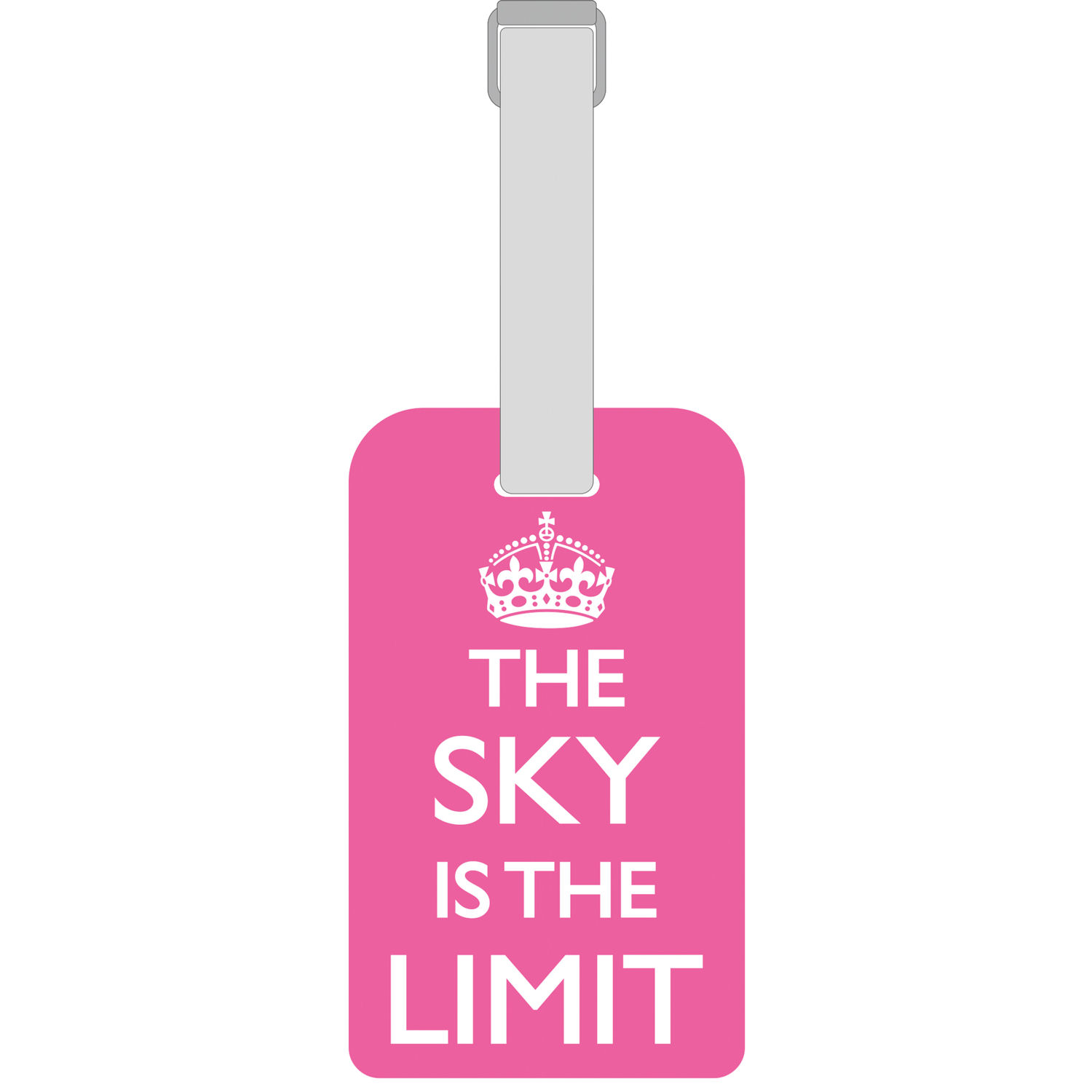 NEW PINK SKY IS THE LIMIT LUGGAGE TAG RETRO GIFT LABEL SUITCASE ...