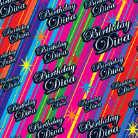 Birthday Diva Gift Wrap x 3 Sheets