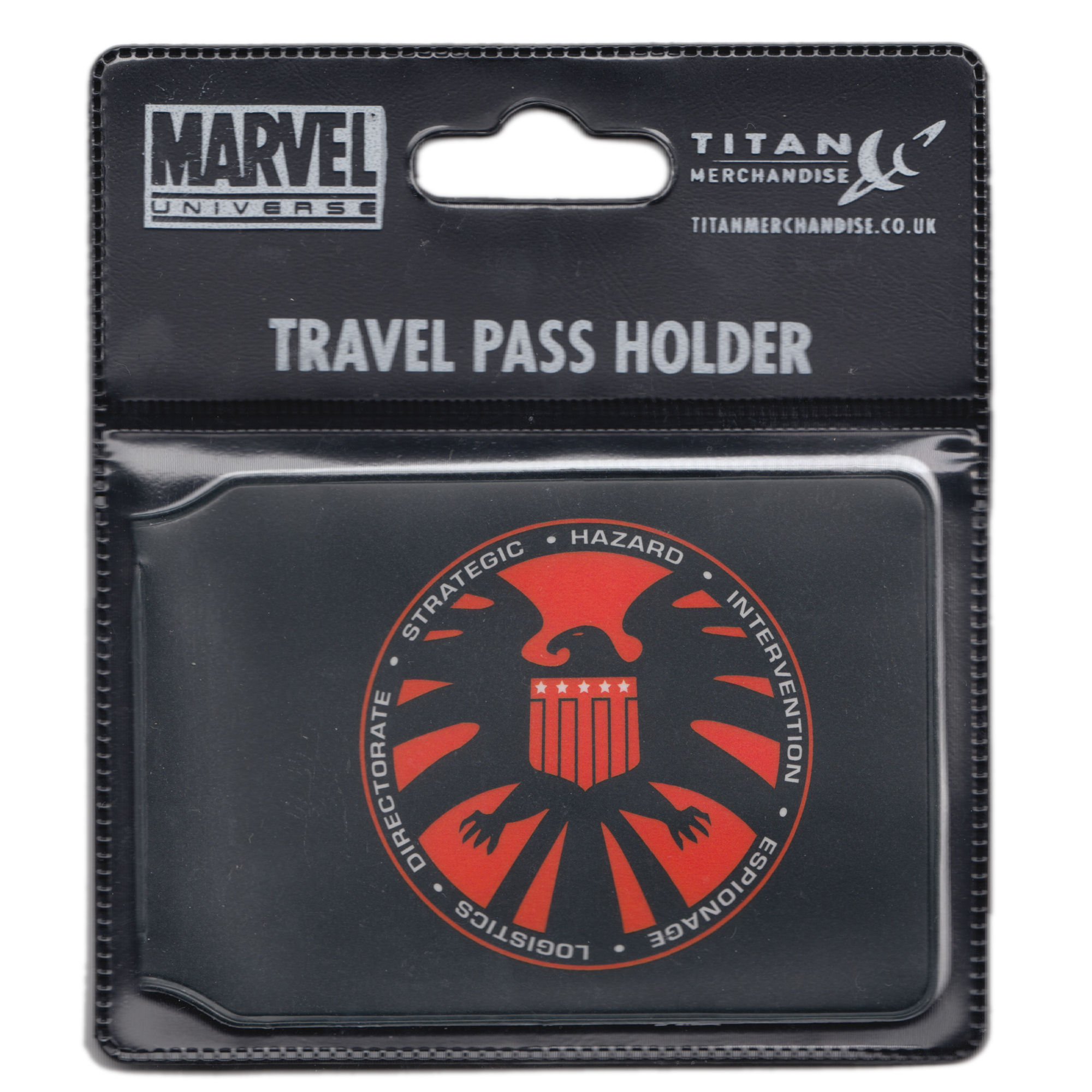 NEW SHIELD LOGO OYSTER TRAVEL CARD HOLDER BUS TRAIN MARVEL NICK FURY GIFT PASS