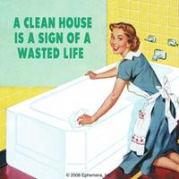 A Clean House Is A Sign Of A Wasted Life Single Coaster