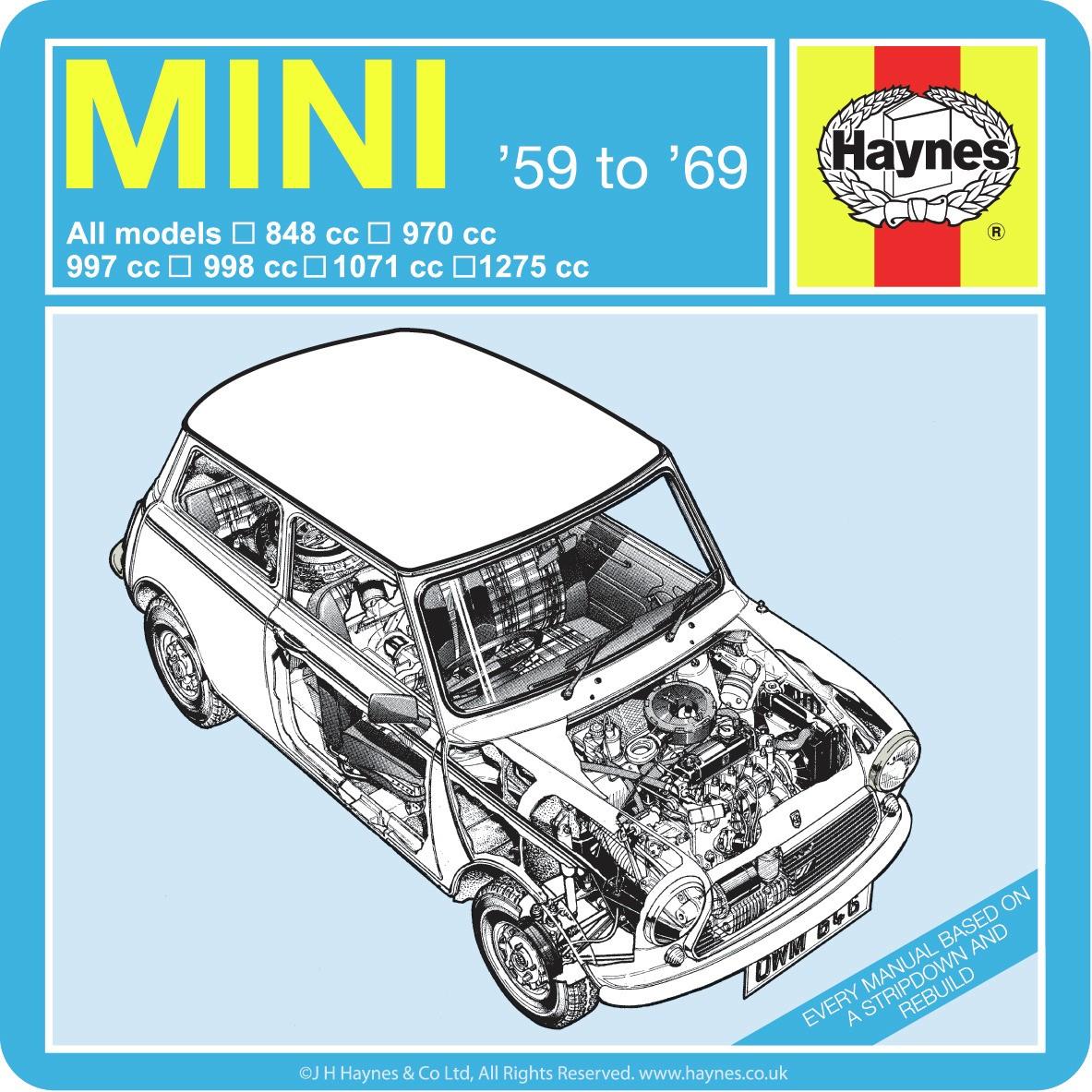 Haynes Manual Mini (69 - 01) Petrol up to X - Car Workshop Manuals, Book 0646