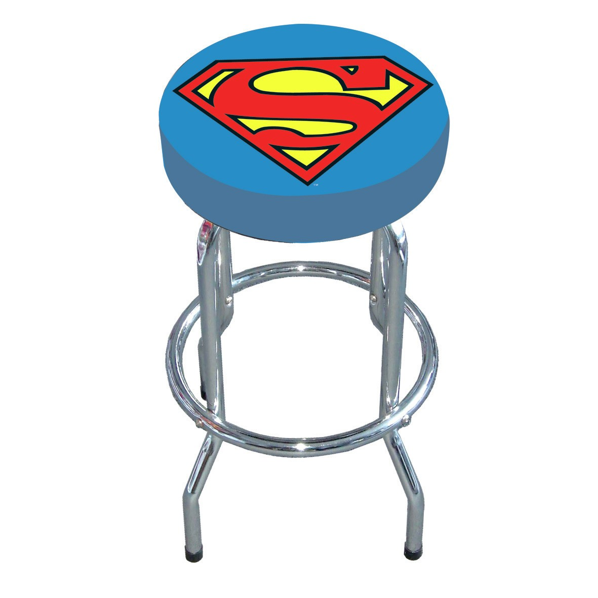 NEW SUPERMAN LOGO BAR STOOL KITCHEN RETRO BREAKFAST STEEL  : superman logo bar stool from ebay.co.uk size 1181 x 1181 jpeg 96kB