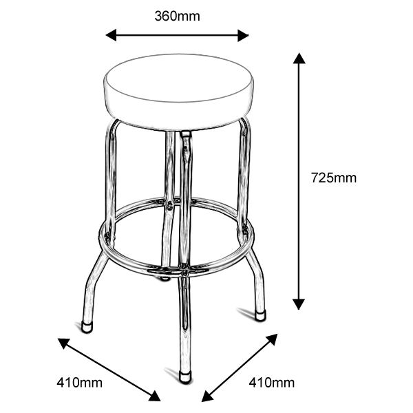 Size Of Bar Stools Creepingthyme Info