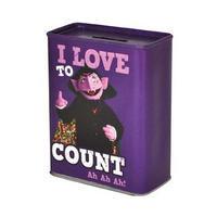 "Sesame Street ""I Love To Count"" Tin Money Box"