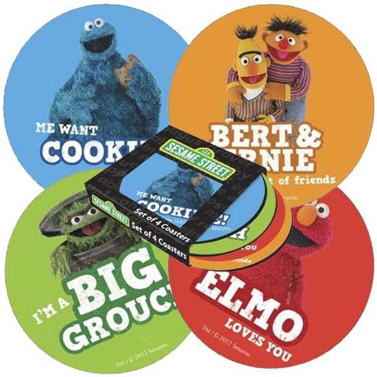 View Item Sesame Street Round Coaster Set (4 Coasters)