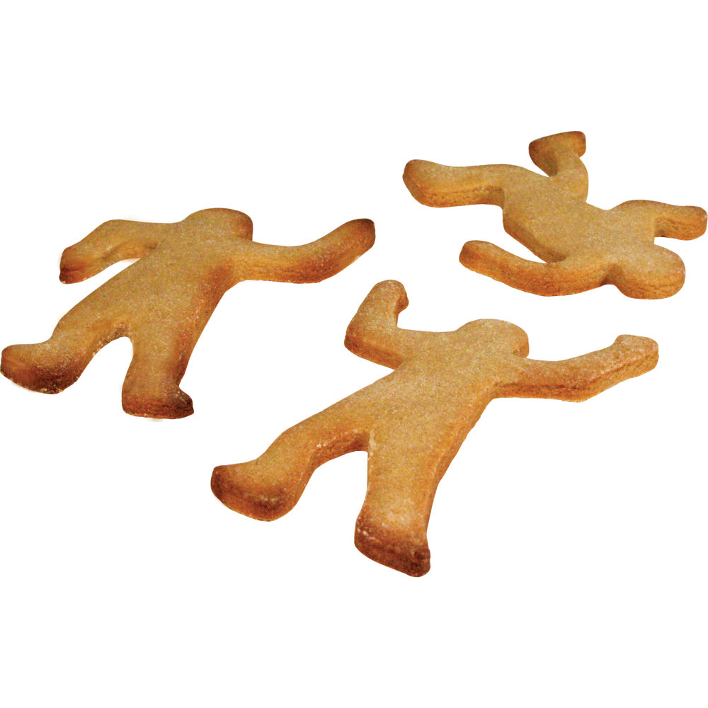 new gingerdead men biscuit cutters cookie novelty gingerbread kitchen csi crime ebay. Black Bedroom Furniture Sets. Home Design Ideas