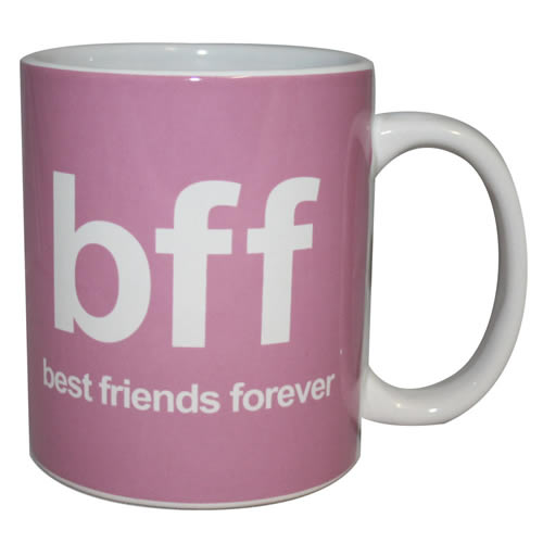NEW BFF BEST FRIENDS FOREVER BOXED MUG TEXT SPEAK OFFICE HUMOUR SMS CUP CERAMIC