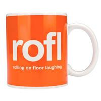 ROFL Rolling On Floor Laughing Text Speak Mug