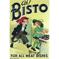 "Ah! Bisto Kids Postcard ""For All Meat Dishes"""
