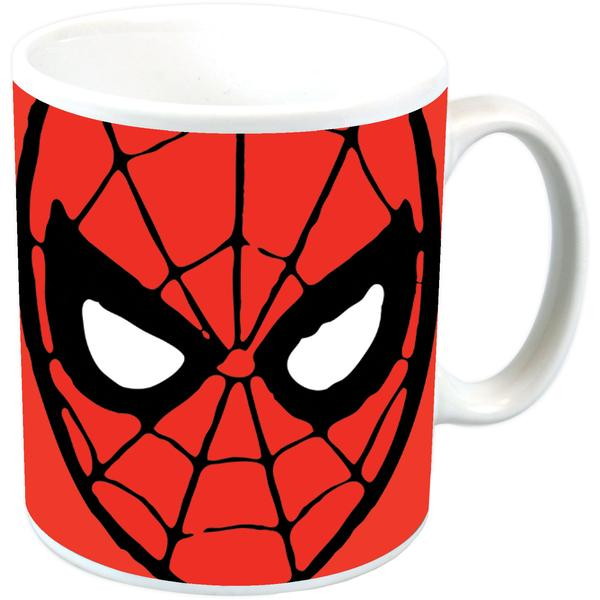 Spiderman Face Ceramic Mug Standard Kitschagogo