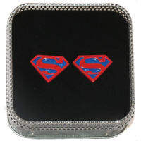 Superman Logo Cufflinks (Red & Blue) Thumbnail 1