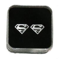 Superman Logo Cufflinks (Black Background)